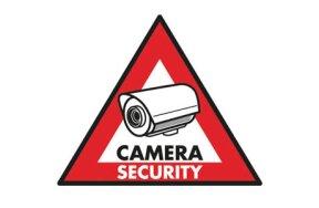 CAMERA SECURITY PVC STICKER
